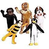 Foxxeo 10853 | Maskottchen Promotion Lauf Kostüm Gorilla Hund Biene...