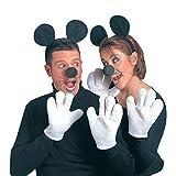 NET TOYS Minnie Maus Kostüm Set Mäuse Kostümset schwarz-weiß Micky...