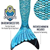 Fin Fun Mermaid Tail, Verstärkte Tips, MONOFLOSSE INKLUSIVE, Tidal...