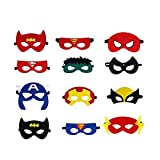 Superhelden Masken, Filz Superhero Cosplay Party Masken Halbmasken...