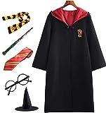 PRXD Harry Potter Cosplay Kostüm Set, Umhang Zauberstab Krawatte...
