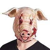 Boland 97519 - Latex Kopfmaske Blutiges Schwein, Rosa/Rot, Erwachsene,...
