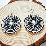 Zuiaidess Damen Ohrringe,Holz Afrika Typisch Afrikanische...
