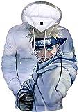 Silver Basic Jungen Neuheit Hoodies Naruto Sweatshirt 3D-Druck Naruto...