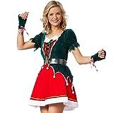 dressforfun 900846 Damen Elfen Kostüm, Wichtel Weihnachtself -...