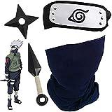 Blesser Naruto Kakashi Maske mit Konoha Naruto Stirnband Metall +...