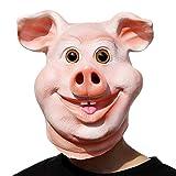 PartyCostume - Glückliches Schwein Maske - Halloween Party Lustig,...