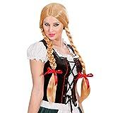Widmann P0736 - Perücke Gretel, blond, mit geflochtenen Zöpfen,...