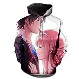 Anime Mode Kapuzenpullover Harajuku-Stil 3D Anime-Grafiken Darling in...