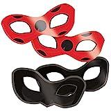 Amscan 9902883 - Masken Miraculous, 8 Stück, Papier, Ladybug und Cat...