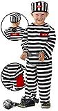 Folat 21870 3tlg Straefling Gefangener Gefängnis Kinder Kostüm...