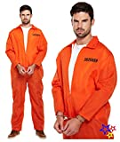 Gefangene Sträfling orangen Overalls Hannibal Style Herren Kostüm XL