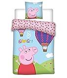 037 Peppa Wutz Bettwäsche, Peppa Pig und der Luftballon, Kissenbezug...