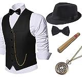 Coucoland 1920s Accessoires Herren Mafia Gatsby Kostüm Set inklusive...
