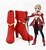 Fate/Apocrypha Servant Mordred Cosplay Shoes Fa Saber Red Cosplay...