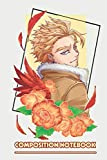 Bnha Hawks In Begonia Flowers Notebook: (110 Pages, Lined, 6 x 9)