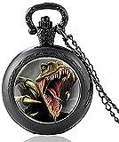 NC134 Klassischer Raptor Dinosaurier Design Vintage Quarz Taschenuhr...