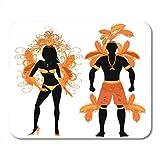 Semtomn Gaming Mouse Pad Samba Orange Paar für Karneval Kostüm...
