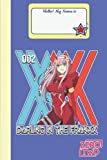 Franxx in The Darling Zero Two 02 Composition Notebook Merch: Zero Two...