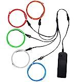 Litake EL Wire,5x1m Elektrolumineszenzdraht Neonlicht 3 Lichtmodi...
