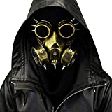 Macabolo Steampunk Gothic Vintage Spikes Gas Maske Brille Cosplay...