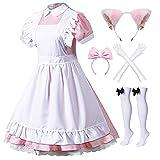 Japanische Anime Lolita Französische Dienstmädchen-Schürze Kostüm...
