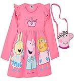 Peppa Pig Mädchen Kleider, 100% Baumwolle Baby Kleid, Peppa Wutz...