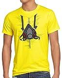 style3 Bad Meth Gasmaske T-Shirt Herren kostüm Crystal Breaking tv...