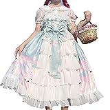 Japanisches Harajuku Gothic Lolita Hosenträgerkleid Sweet Peter Pan...