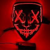 Halloween Maske LED Maske - Purge Maske leuchten Maske gruseligsten...