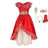 FINDPITAYA Kostüm Prinzessin Elena von Avalor Fantasy Blume Kleid...