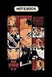Notebook: Kyojuro Rengoku = DEMON SLAYER = Manga Panel S02 -Red-,...
