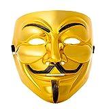 UltraByEasyPeasyStore Ultra Gold Guy Fawkes Erwachsene Maske Hacker...