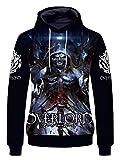 WANHONGYUE Anime Overlord 3D Digitaldruck Kapuzenpullover Sweatshirt...