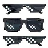 Pixel Sonnenbrille, Comius Sharp [3 Pack] Mosaik-Gläser, Thug Life...