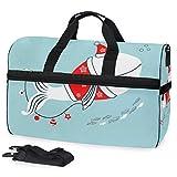 Reisetasche Wal im Weihnachtsmann-Kostüm für Damen und Herren