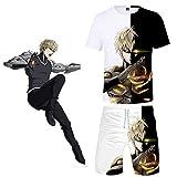 ONE Punch Man Cosplay Costume Genos 3D Druck T-Shirt & Shorts Set Für...