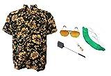 thecostumebase die Angst & Abscheu Las Vegas Shirt Hut Orange Brille...