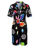 NUWIND Frauen Mädchen Stranger Eleven Mall Kostüm Kleid Mehrfarbiger...