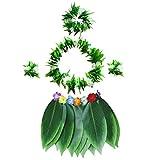 BESTOYARD 5 stücke Hula Rock Hawaiian kostüm Set mit grünen...