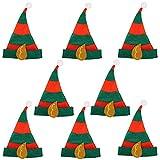 8 x Elfenmütze Hut Mütze für Elfen für Kostüm Elfe Waldgeist...
