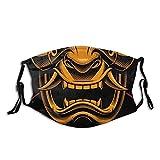 Fiery Demon Samurai Helm Gesicht M-a-s-k Mode staubdicht atmungsaktiv...