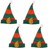 4 x Elfenmütze Hut für Elfen für Kostüm Elfe Waldgeist Elfenhut