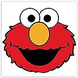 SkinoEu® 2 Stück Vinyl Aufkleber Autoaufkleber Stickers Elmo Sesame...
