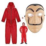 Kostüm La Casa De Papel, Anzug für Erwachsene in rotem...