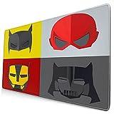 Custom Office Mauspad,Superheld, Masken für die Verkleidung von...