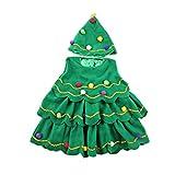 BESTOYARD Weihnachtsbaum Kostüm mit Weihnachtskugel Kinder Tunika...