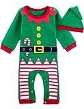 MOMBEBE COSLAND Baby Weihnachten Kostüm Elf Strampler Outfit mit Hut...