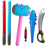 SWZY Inflatable Props Set -Aufblasbare Sticks Piraten Schwert Stick...