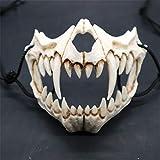 WINBST Schädel Motorrad Skelett Halbe Gesichtsmaske Maske für...